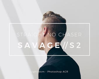 SAVAGE / S2 Lightroom and Photoshop ACR Preset: An Edgy Film Style Fashion and Street Photography Filter , Natural light and Studio Preset