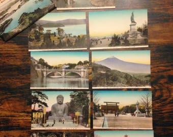Pack of Vintage Japanese souvenir postcards