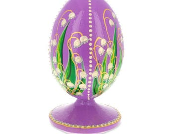 1898 Lilies Of The Valley Faberge Wooden Easter Egg