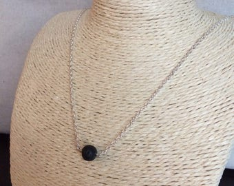 Lava Diffuser Necklace, Lava Stone Diffuser, Essential Oil Diffuser Necklace, Lava Bead necklace, Aromatherapy necklace, minimalist necklace