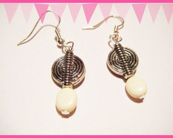 Silver spiral earrings ♥ ♥