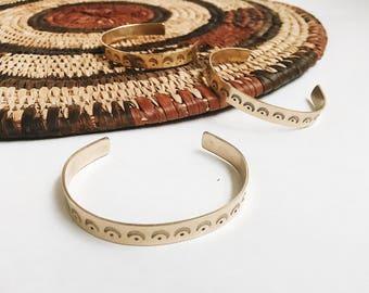 Sunray Cuff, Brass Hand Etched Cuff