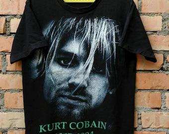 Rare!!! Kurt Cobain Grunge T Shirt Large Size