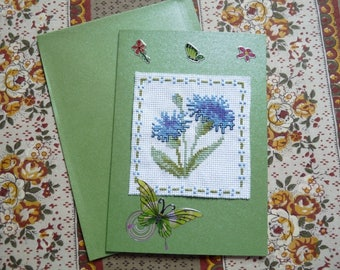 Embroidered card 178