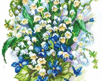 Cross Stitch Kit Lily of the valley art. 40-46
