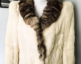 Rabbit fur coat - Rabbit fur jacket - Vintage Fur coat - Fur coat - Fur jacket - Winter Coat - Womens fur coat - Rabbit fur