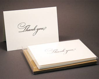 Bickham Letterpress Thank You Cards - Set of 6
