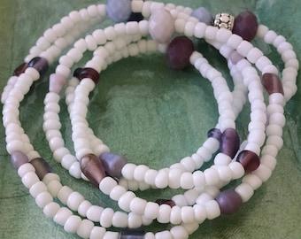 Summer White wrap bracelet