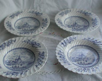 Vintage Johnson Brothers Tulip Time Soup Bowls Set of Four