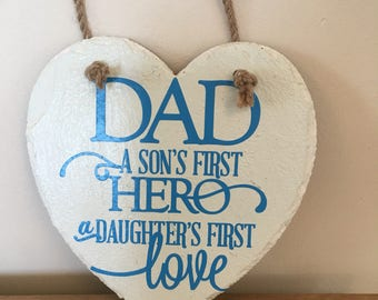 Handmade Slate Plaque - ideal Father's Day gift