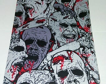 Zombie book cover, composition book cover, notebook cover, fabric notebook cover