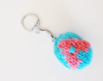 Keychain / bag charm with A bullet shaped