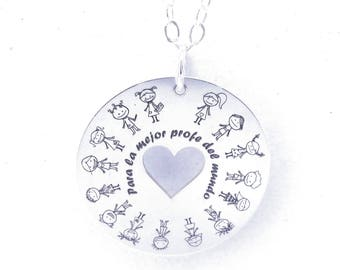 Personalized Silver Necklace for Prof