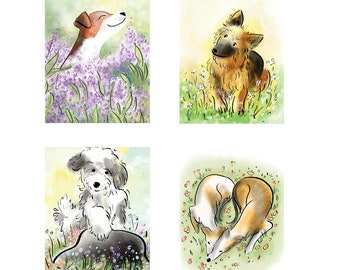 Fab Greeting Card Set - Dogs & Cats