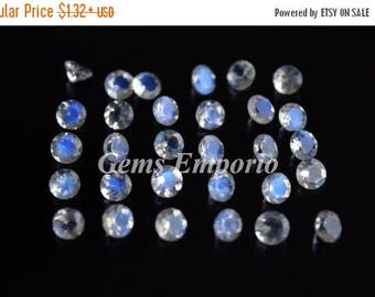 ON SALE Rainbow Moonstone 3MM / 4Mm Faceted Round / Blue Moonstone / White Moonstone / Good Quality