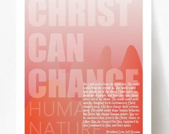 Christ Can Change Human Nature Poster