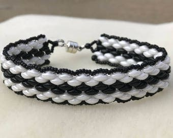 Black and White Super Duo Bracelet