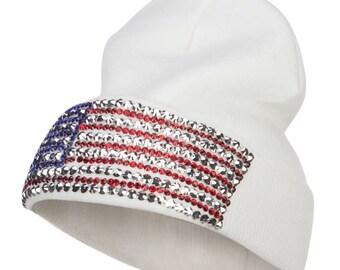 American Flag Stone Beanie