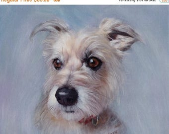 Anniversary Sale Custom Pet Painting from your Photo, Oil Painting Portrait ON CANVAS, Size 8X10 or larger (not framed)