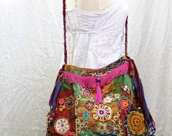 textile shoulder bag boho Mandalas round