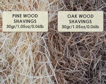 Natural Wood shavings,Natural wood chips,Gift wrapping,Wood chips,Wood wool, pine/oak Wood shavings
