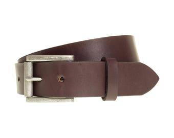 Dark Brown Leather Belt | Waist Belt | Mens Belt | Brown Belt | Belt for Men | Western Belt | 3rd Anniversary Husband Boyfriend Gift