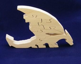 Dragon wooden decorative object.