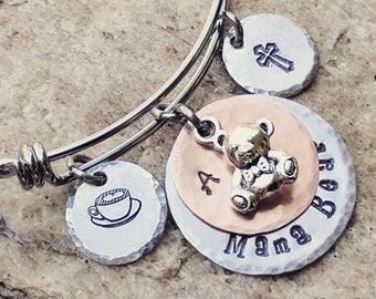 Mama Bear Bracelet, Mama Bear Jewelry, Mama Bear, Mama Bear Gift, Mama Bracelet, Jewelry for Mama, Mama Needs Coffee, Mama Bangle