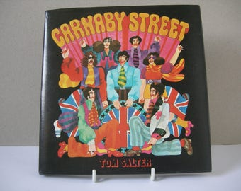 "Book ""Carnaby Street"" by Tom Salter illustrations by Malcolm English. 1970s POP ART Book"