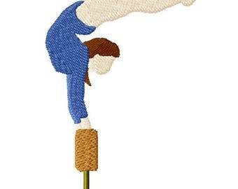 Gymnast Machine Embroidery design.