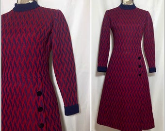 Vintage 1970s Sweater Dress // S-M