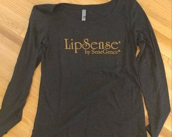 LipSense Logo Long Sleeve Scoop Neck Shirt