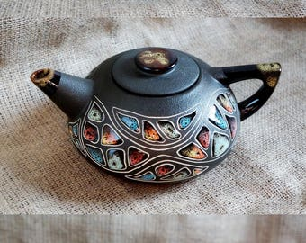 Bride gift ideas Ceramic Stones teapot Tea pot hand painted Ceramic gifts Crockery Anniversary gift idea Mom birthday gift Presents for mum