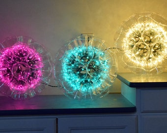 Holiday Mardi Gras Sparkle Ball Cajun Chandelier Outdoor and Indoor 100 Lights Home Decoration
