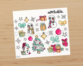 Snowbits and Presents Glossy Stickers / S232