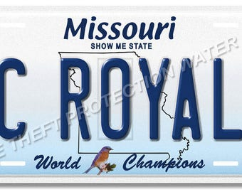 "Kansas City ROYALS Missouri MLB Baseball World Champions Novelty Vanity License Plate Tag Gift 6""x12"""