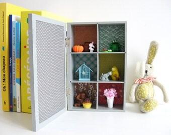 """Imagier box """"6 colors"""" - kids decor - Diorama - frame 3D - unique Creation"""