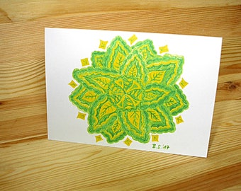 "Greeting card A6 (also available as a set): ""Leafs"""