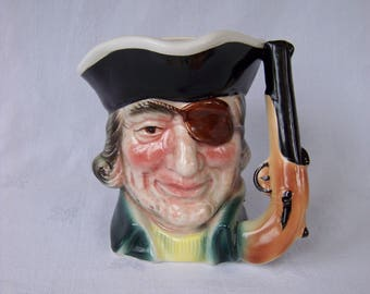Pirate Toby Character Jug with Pistol Handle