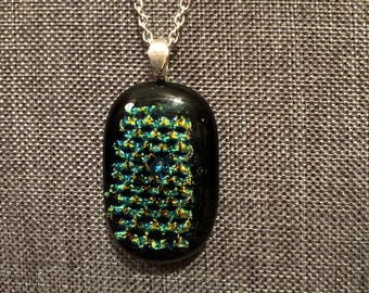 Handmade Dichroic Glass Necklace