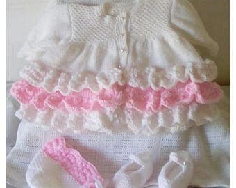 Unique Hand Knitted baby girl gift