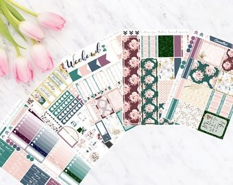 Second Spring Vertical Weekly Kit Planner Stickers for Erin Condren LifePlanners