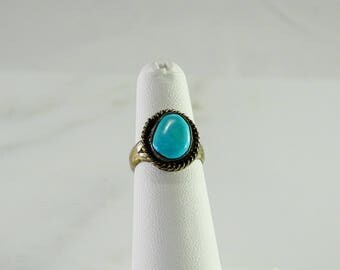 Sterling Turquoise Accent Ring Size 5