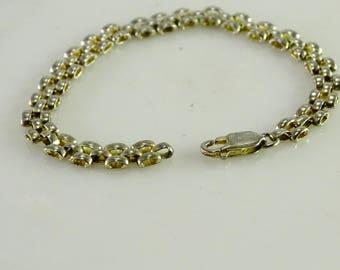 """Rounded Link Sterling Bracelet 7 3/8"""""""