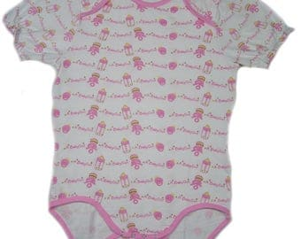 Adult Baby A Girl Baby Lap Shoulder snap crotch Bodysuit ABDL
