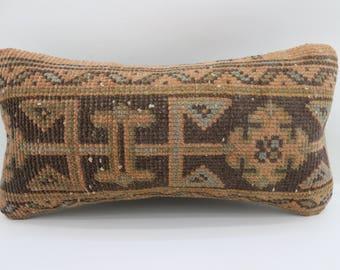 10x20 mini lumbar pillow sofa pillow lumbar pillow cover vintage pillow decorative pillow handmade rug pillow handmade carpet SP2550-1597