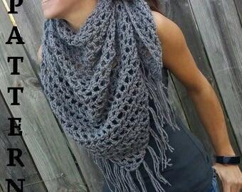 Triangle fringe boho crochet pattern crochet wrap pattern boho crochet poncho boho crochet sarong boho scarf pattern fringe scarf pattern