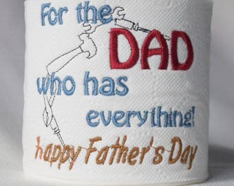 Embroidered Toilet Paper - Everything Dad Fathers Day