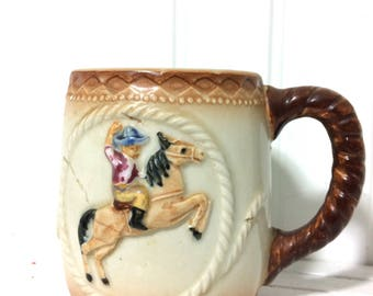 Vintage Cowboy Mug by Shafford