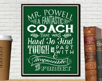 Custom Fantastic Coach Print, Baseball Coach Gift, Coaches Gift, Coach, Softball Coach Gift, Soccer Coach Gift, Volleyball Coach Gifts, Gym